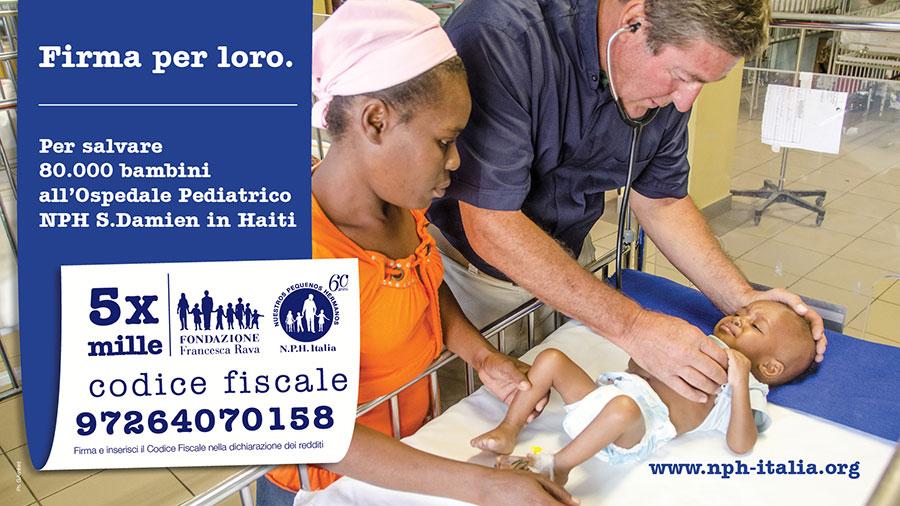 Teatro alla Scala-immagine-di-bambini-ricoverati-in-ospedale-Haiti