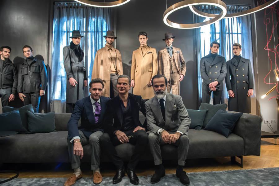 Massimo Cifonelli, John Vizzone, Lorenzo Cifonelli presentano la collezione autunno/inverno 2017