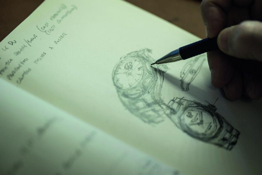 Girard-Perregaux-Laureato-orologio-bozzetto-studio-design
