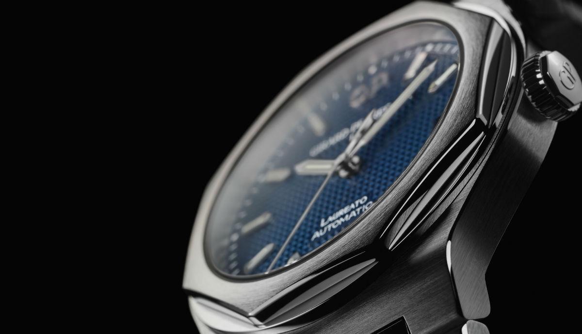 Girard-Perregaux-Laureato-cassa-blu-acciaio