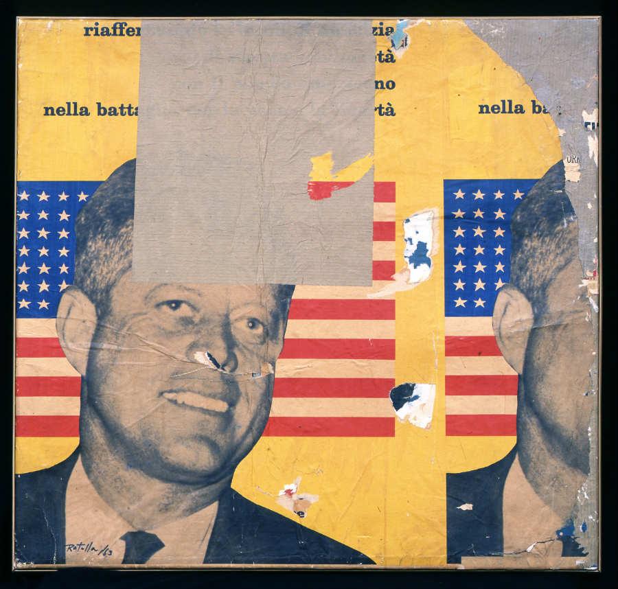 New York New York. Arte italiana: la riscoperta dell'America: quadro-Allestimento Gallerie d'Italia - opere Rotella - Schifano - credits Maurizio Tosto