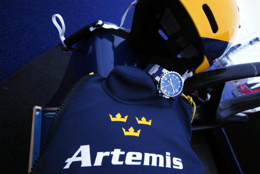 Ulysse Nardin – Marine Regatta Chronograph – immagine di un membro del team Artemis Racing.