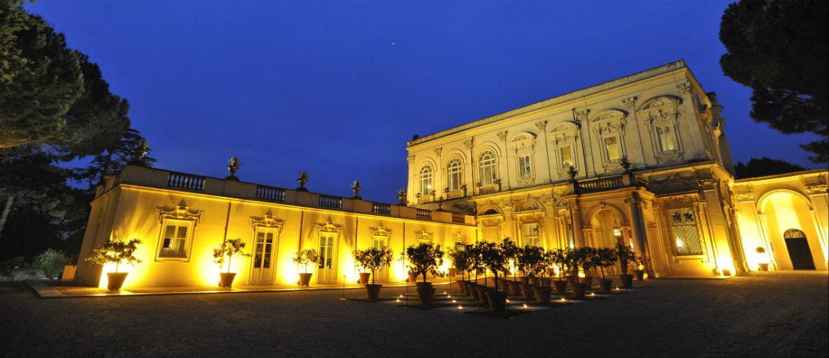 Villa-Aurelia-Roma-dimora-storica-veduta-in-notturna