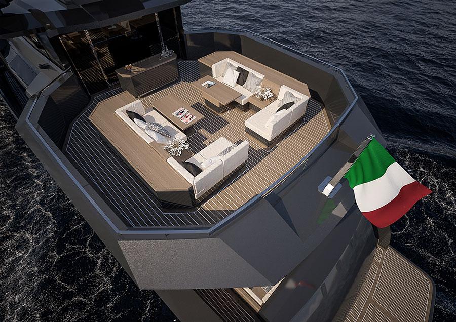 arcadia-yachts: immagine dello yacht dall'alto