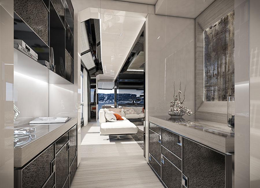 arcadia-yachts: immagine degli interni dello yacht