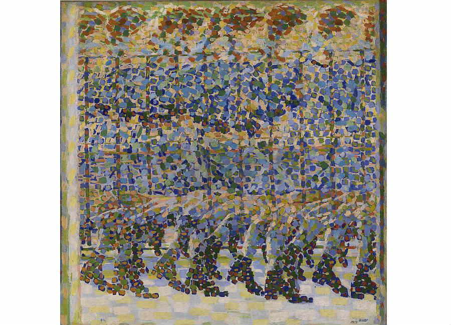 New York New York. Arte italiana: la riscoperta dell'America: quadro-Balla, Bambina x balcone, 1912