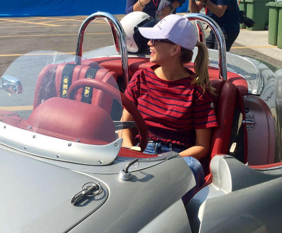 Passione Caracciola: Carmen Jorda Buades a bordo di un auto storica