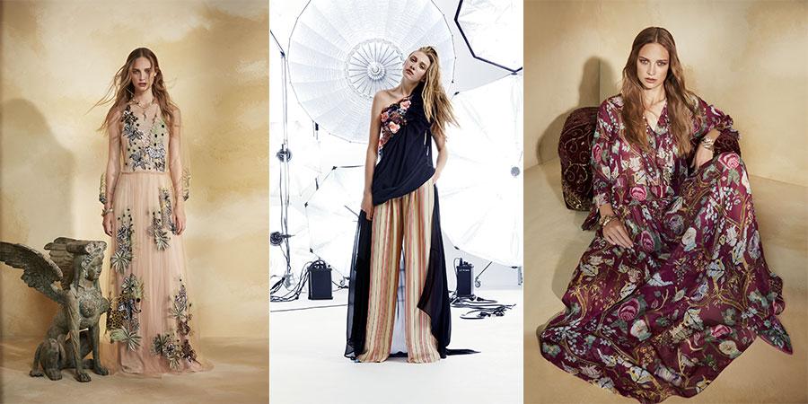 Pre-Collezioni 2018 - abiti floreali di Alberta Ferretti - Emanuel Ungaro