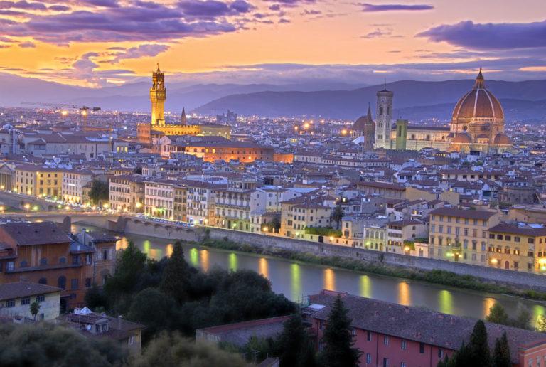 Lungarno Collection Hotel Firenze - vista panoramica di Firenze al tramonto