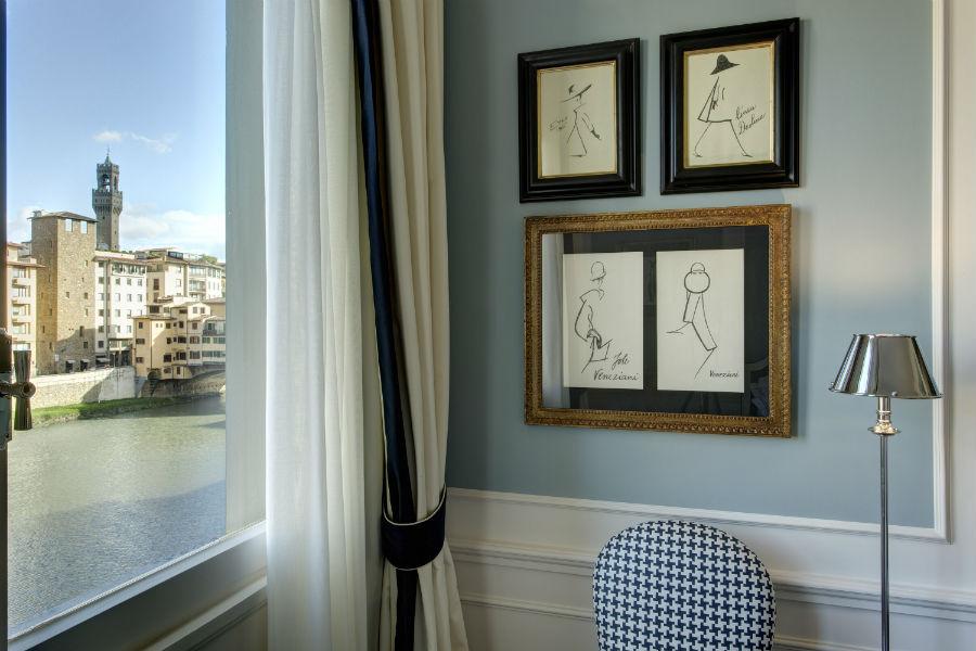 Lungarno Collection Hotel Firenze - vista sull'Arno da una camera