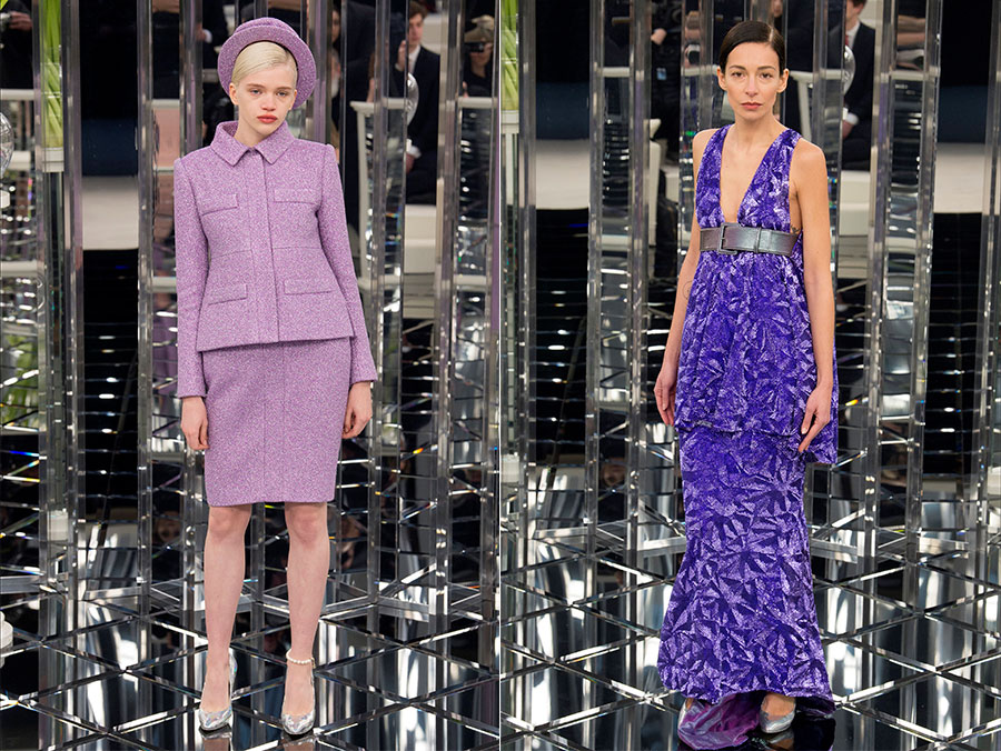 Provenza - tailleur in tweed e abiti fermati in vita da cinture di Chanel Haute Couture SS2017