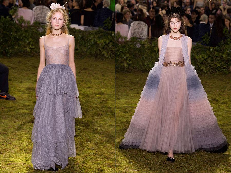 Provenza - abiti in tulle, seta, organza, piume e cristalli di Dior Haute Couture SS2017