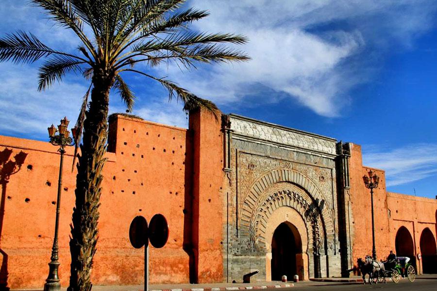 """Amanjena - resort esclusivo a Marrakech - Marocco - Porta di """"Bab Agnaou"""" a Marrakech"""