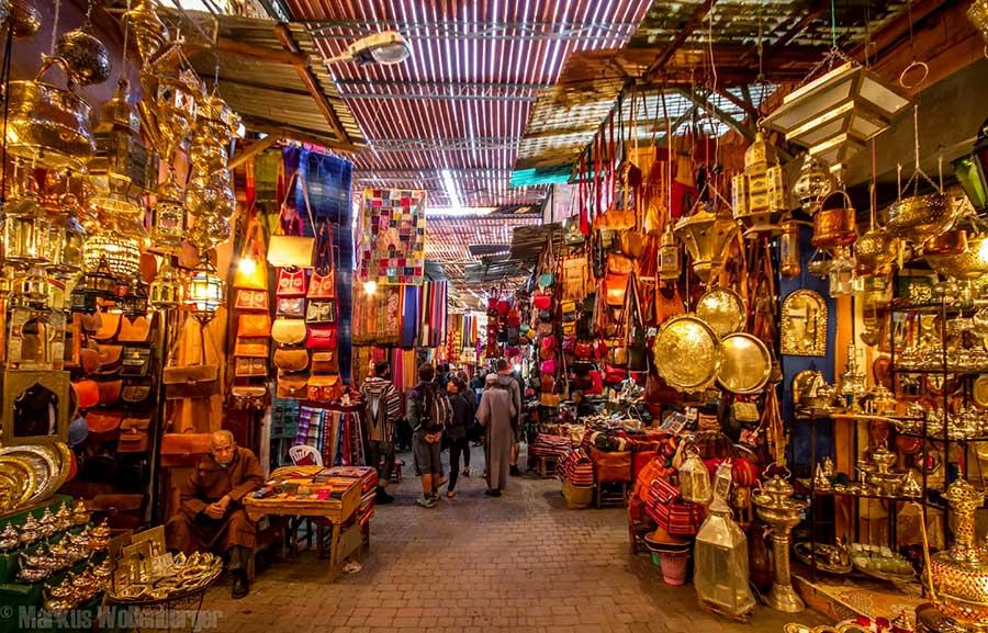 Amanjena - resort esclusivo a Marrakech - Marocco - Souk di Marrakech