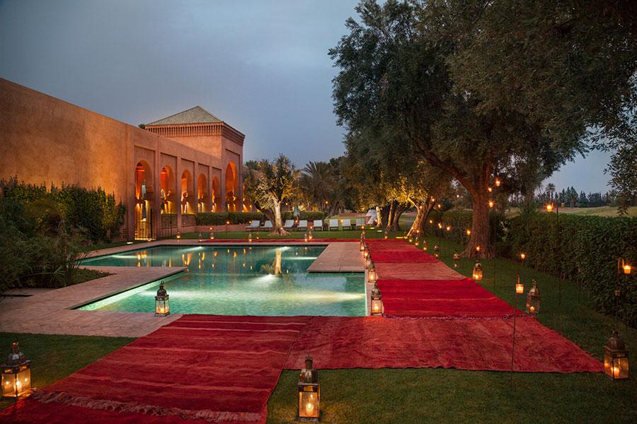 Amanjena - resort esclusivo a Marrakech - Marocco -Tenda esterna