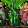 Fernando Botero Il presidente, La first lady (dittico), 1989 Olio su tela; 203x165 cm