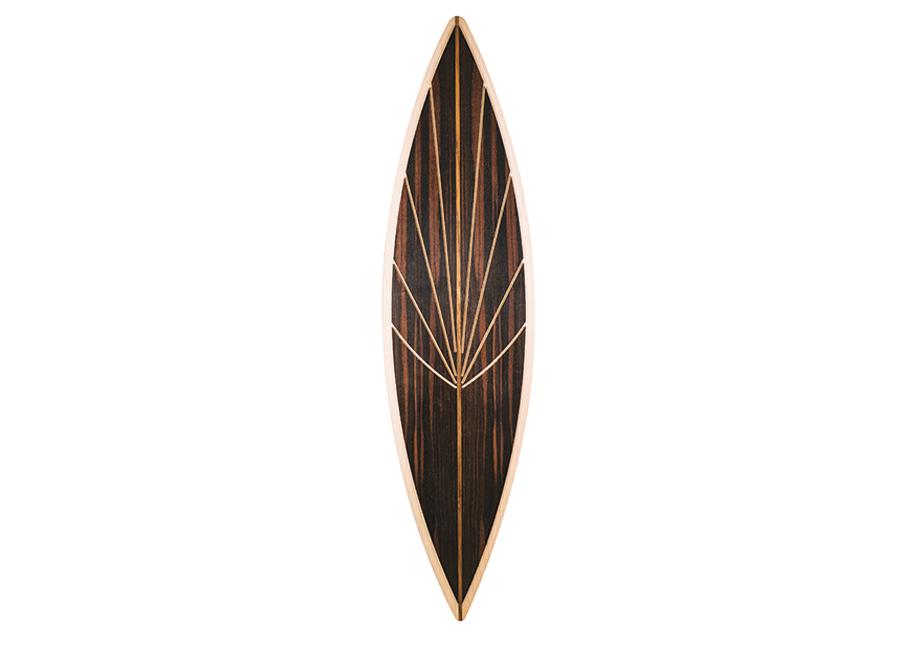 """Giordano Viganò - ebanista - """"Curve"""" skateboard in acero, ebano, tek e amaranto disegnato da Elizabeth Lee, della Creative Academy, e realizzato da Giordano Viganò. Credits: Creative Academy"""