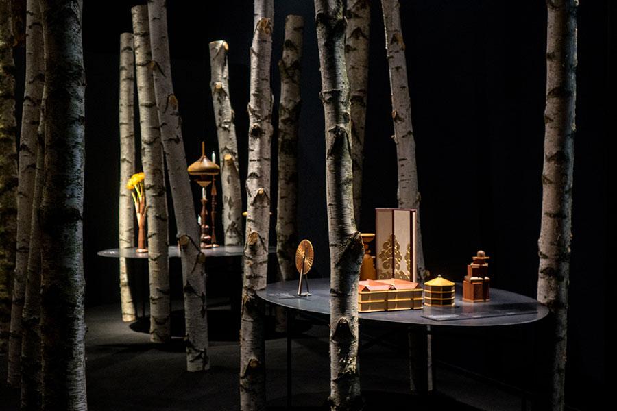 """Giordano Viganò - ebanista - Allestimento della mostra """"Natural Talent"""" che si è svolta al Museo Poldi Pezzoli durante il Salone del Mobile 2017. Credits: Creative Academy"""