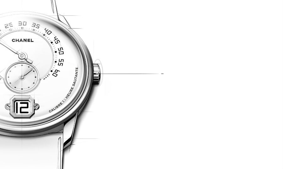 Monsieur de Chanel - bozzetto creato da Watch Creation Studio.