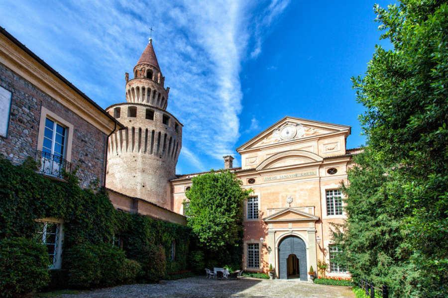 Facciata d'ingresso del Castello di Rivalta