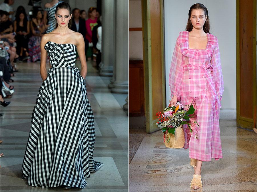 Vichy Tessuto - sfilata abiti da donna di Carolina Herrera - Blumarine SS2017