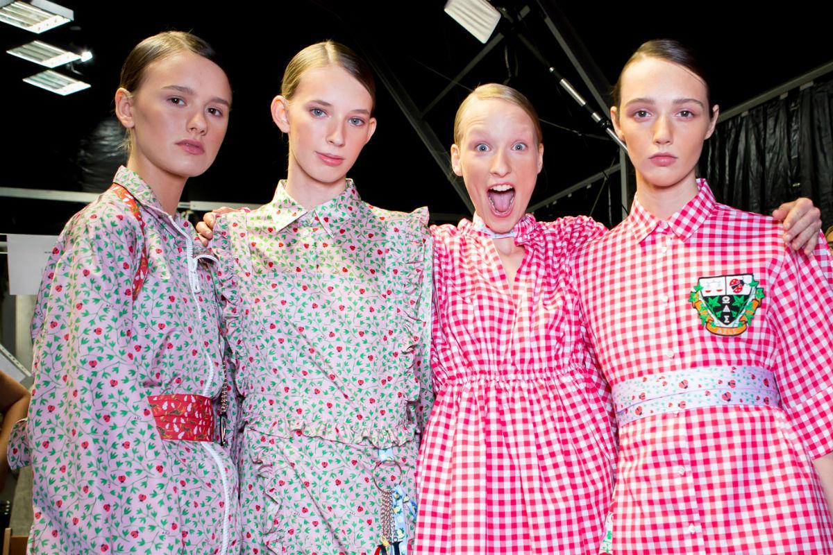Vichy - abiti in tessuto vichy su 4 modelle