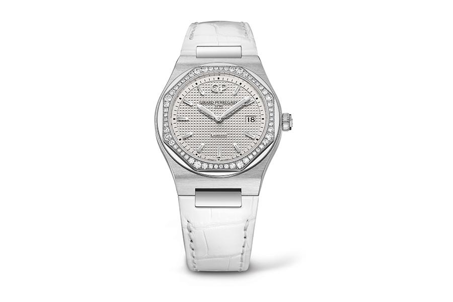 Girard-Perregaux-Laureato-34-Cassa-Aacciaio-Lunetta-56-diamanti-diam.34mm