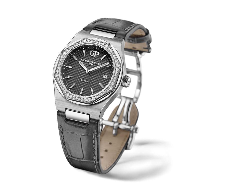 girard-perregaux-laureato-34-cassa-acciaio-lunetta-56-diamanti-fronte