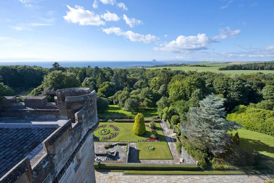 Glenapp Castle - Veduta verso l'orizzonte