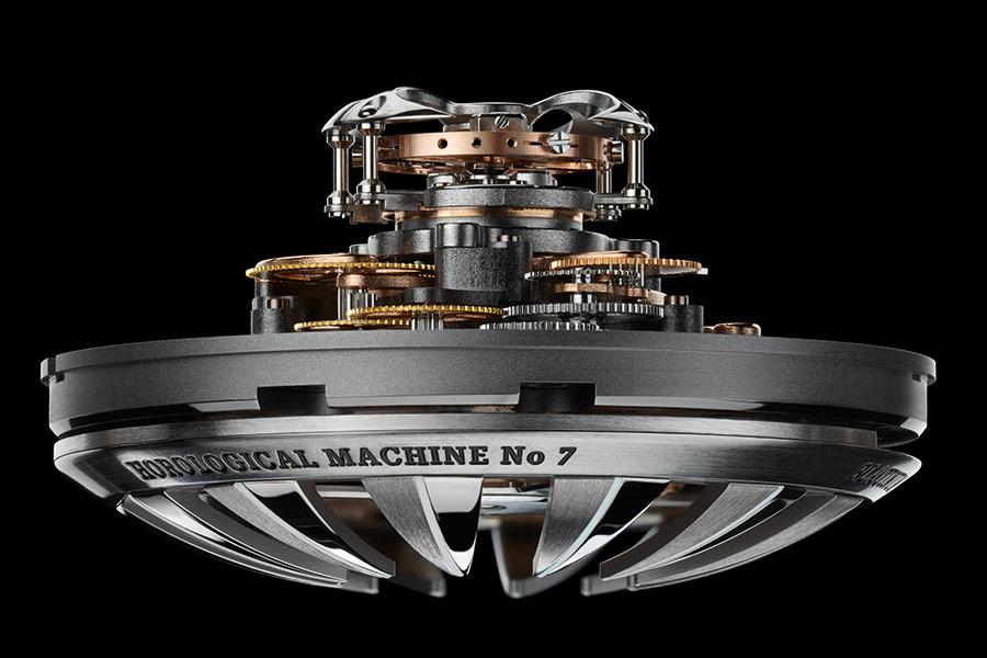 Visone Tridimensionale e ad architettura tridimensionale dell'HM7 Aquapod di MB&F