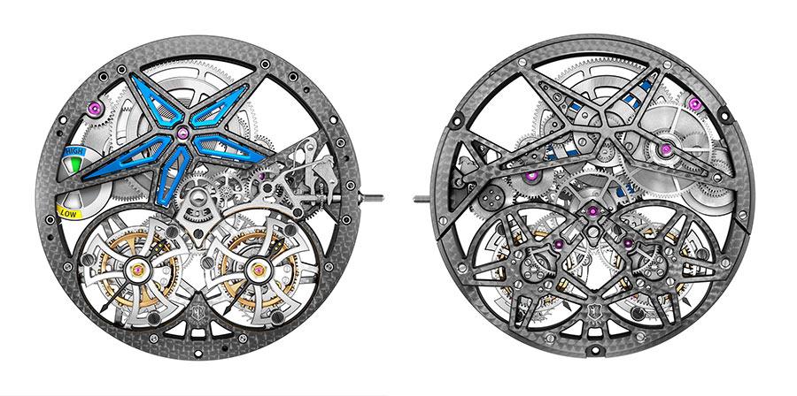 roger-dubuis-Excalibur-Spider-Pirelli-Automatico-Dettaglio-fronteretro-del-Calibro-RD105SQ