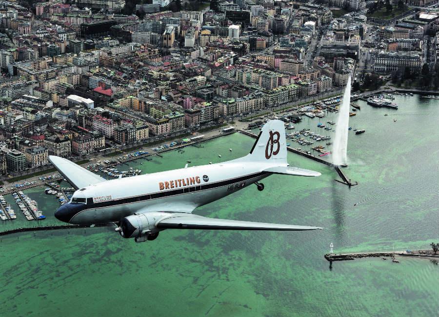 Breitling Navitimer DC-3 Ginevra, tappa di partenza del Breitling DC-3 World Tour