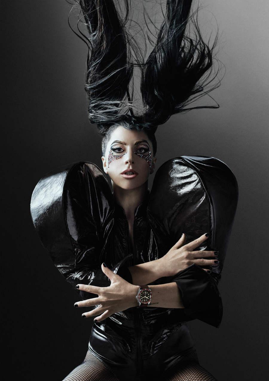 Tudor - Cantante, compositrice, artista, ballerina Lady Gaga, testimonial del brand in un'immagine della nuova campagna pubblicitaria