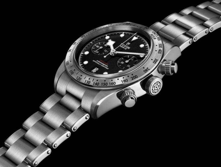 Tudor – Heritage Black Bay Chrono con cinturino in acciaio