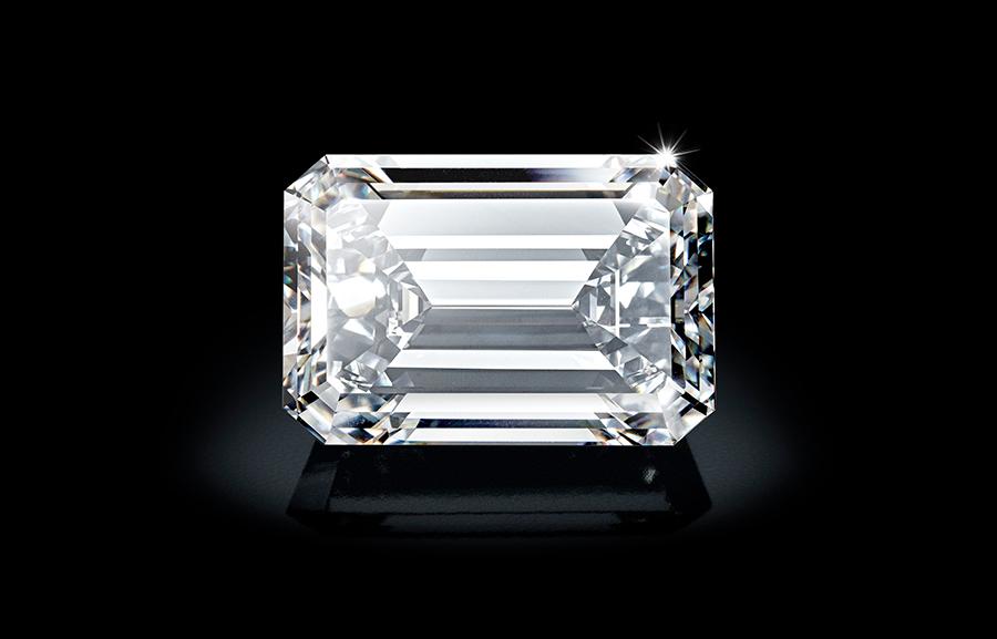 Creation I, l'ormai famoso diamante precisamente da 163.41 carati, D Flawless e di tipo IIA.