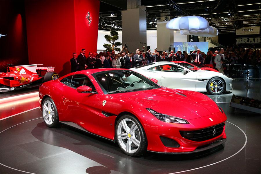 Ferrari Portofino in mostra al Salone IAA Francoforte