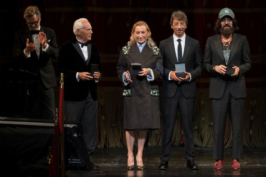 Livia Giuggioli Firth - immagine di Giorgio Armani, Miuccia Prada, Pierpaolo Piccioli, Alessandro Michele