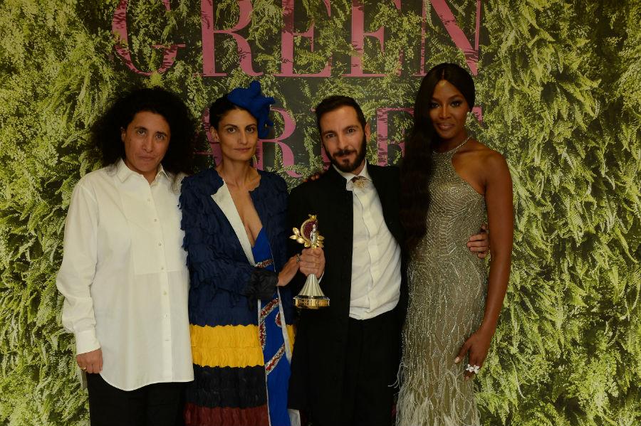 Green Carpet Award - Livia Giuggioli Firth - Sara Maino, Helen Nonnini, Tiziano Guardini, Naomi Campbell