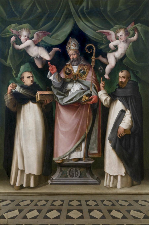 Il dipinto su tavola Madonna con Bambino e Santi di Ridolfo del Ghirlandaio, a Prato. L'opera è stata realizzata, secondo gli esperti, prima del 1560.