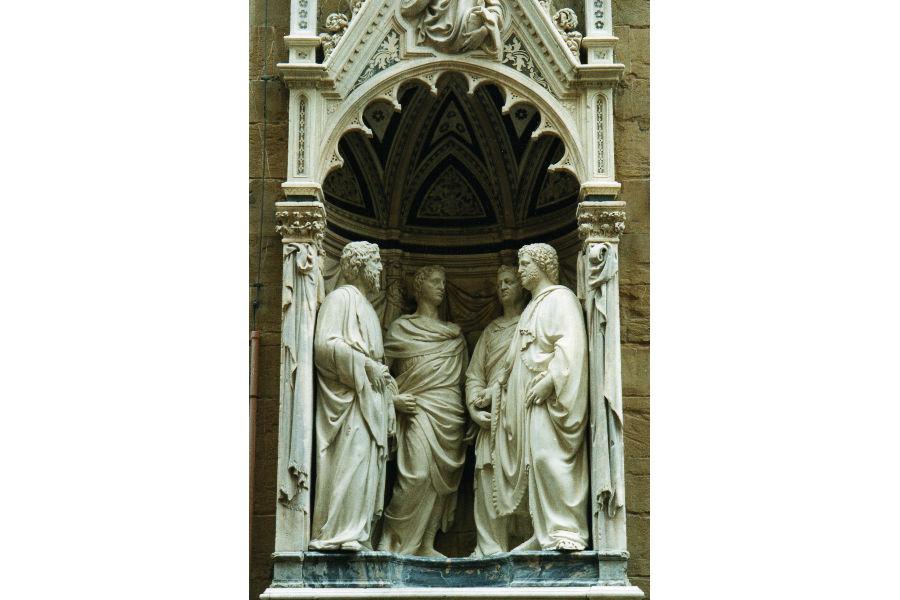 Andrea Fedeli: Il calco del gruppo dei Quattro Santi Coronati di Nanni di Banco in Orsanmichele a Firenze. Secondo gli studiosi l'opera è datata tra il 1409 e il 1416/1417.