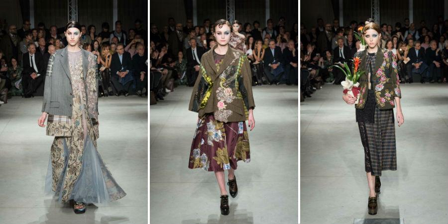 Antonio Marras: 3 modelle indossano abiti della collezione F/W 2017-2018