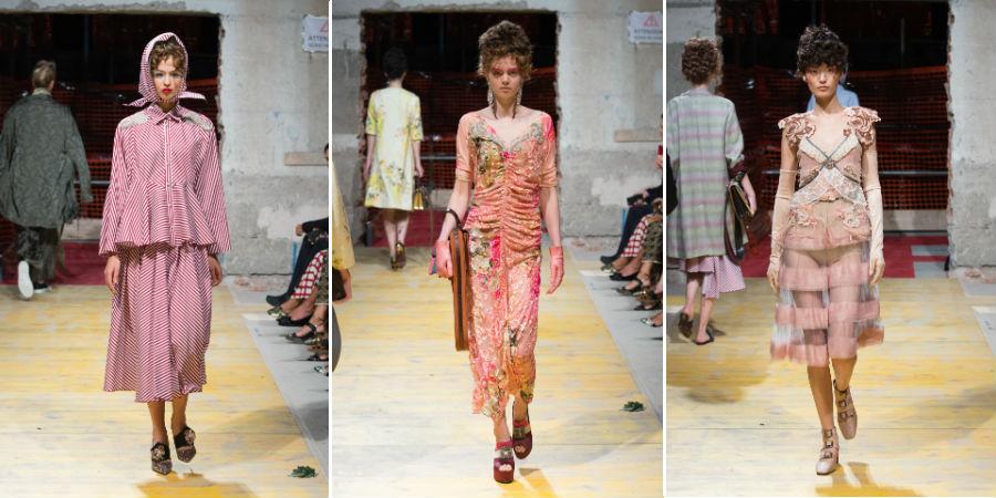 Antonio Marras: 3 modelle sfilano con abiti della collezione ss2018