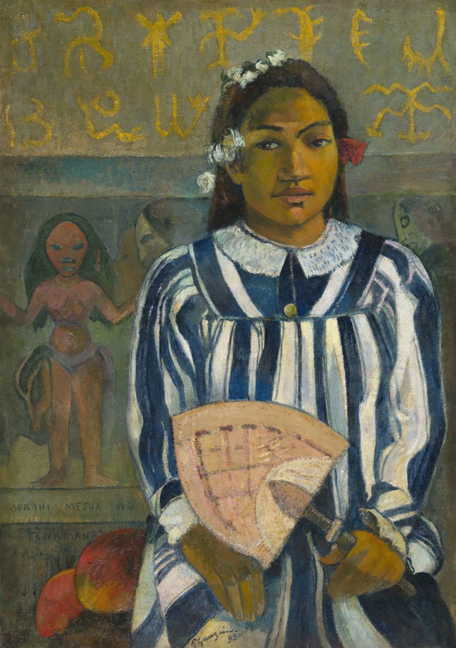 Gauguin l'alchimiste-Paul Gauguin (1848-1903) Merahi metua no Tehamana (Les aïeux de Teha'amana)