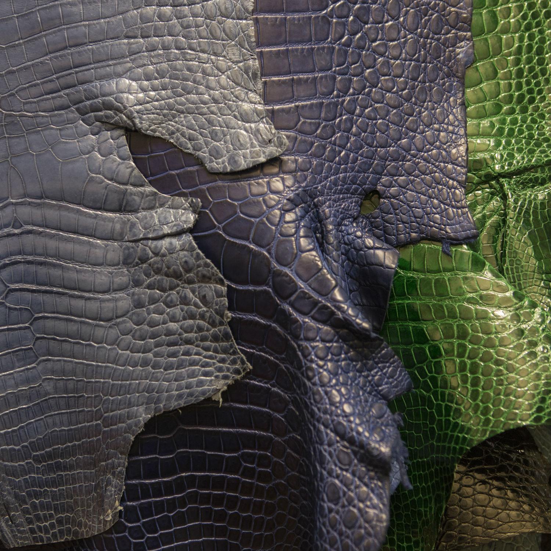 Giòsa - Dettaglio di alcune tonalità di pelli, preziosi segni distintivi del vero lusso. © Emanuele Zamponi