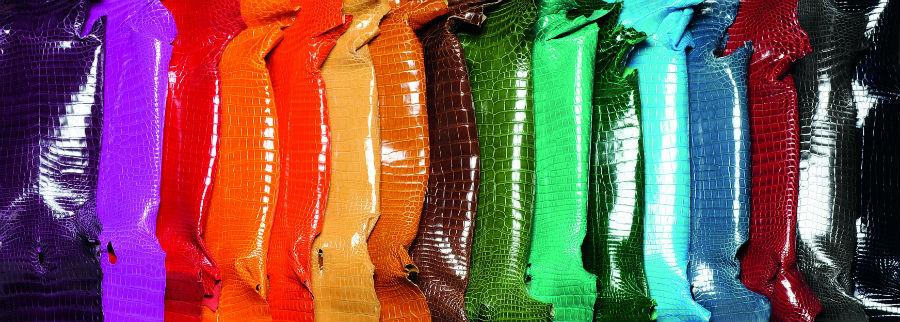 Giòsa - Alcune tra le sfumature della cartella colori delle pelli di Giòsa © Giòsa