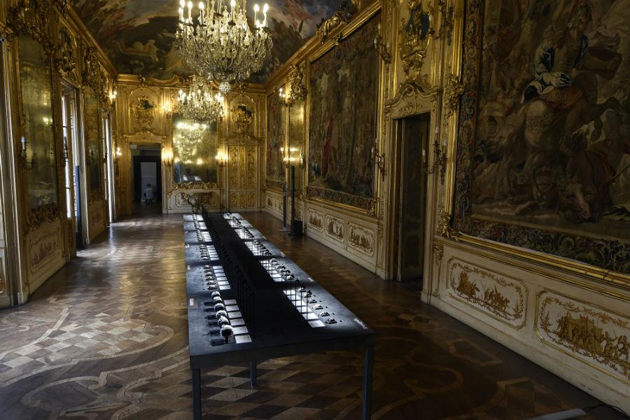 GPHG 2017: Una panoramica della Galleria del Tiepolo di Palazzo Clerici a Milano, la sala scelta per fare da cornice all'esposizione itinerante del GPHG 2017.