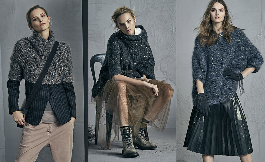 Maglieria - modelle indossano creazioni Brunello Cucinelli