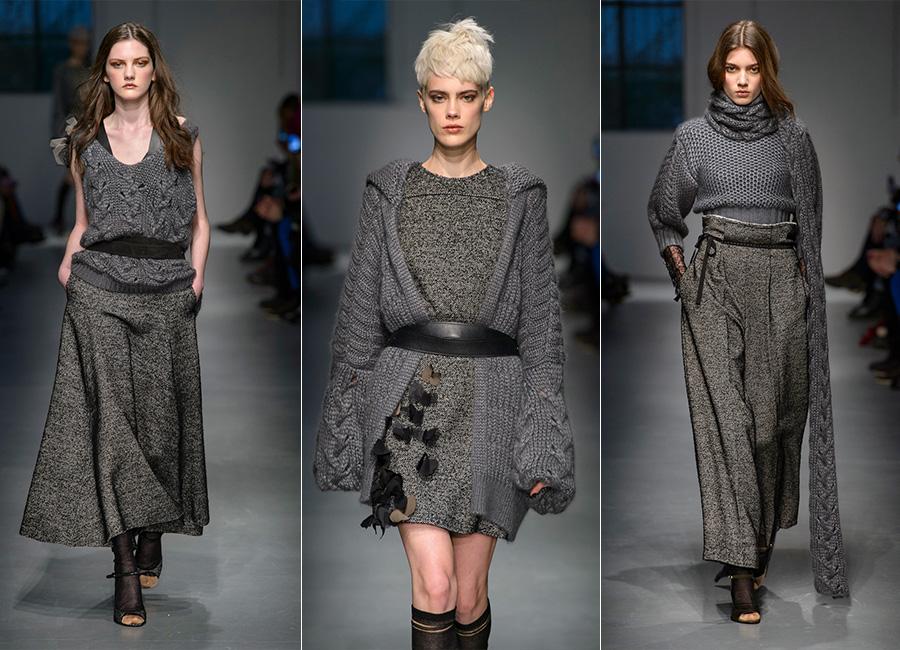 Maglieria - modelle indossano creazioni Les Copains