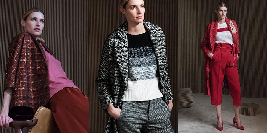 Maglieria - modelle indossano creazioni Altea