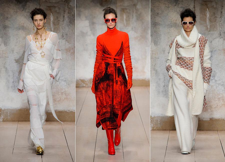 Maglieria - modelle indossano creazioni Laura Biagiotti